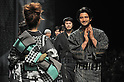 March 19, 2013, Tokyo, Japan - JOTARO SAITO - Autumn/Winter 2013-14 - Tokyo Collection - Runway. (Photo by Kjeld Duits/AFLO)
