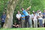 Soren Hansen playing his tee shot from the rough on the 3rd.during round two of the BMW PGA championship 2010 at Wentworth golf club, Surrey England..Picture Fran Caffrey/Newsfile.ie