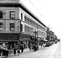 Oakland, California view of Washington St. from 12th St. in Downtown Oakland. (1938 photo)