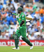 June 18th 2017, The Kia Oval, London, England;  ICC Champions Trophy Cricket Final; India versus Pakistan; fans appluaud as Shoaib Malik of Pakistan is dismissed