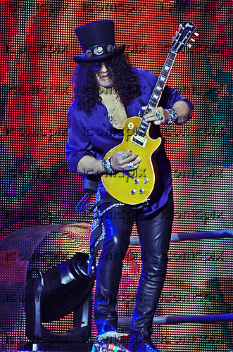 GUNS N' ROSES - guitarist Slash - performing live on the Not In This Lifetime Tour at San Mames in Bilbao Spain - 30 May 2017.  Photo credit: Koldo Orue/Dalle/IconicPix