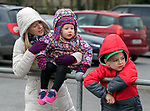 170318<br /> L-R Bernie Shannon, Mia Shannon (3) and Mason Cassidy (6) during St Patricks Day parade in Tulla.Pic Arthur Ellis.