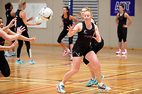 10.09.2018 Silver Ferns Samantha Sinclair during the Silver Ferns training in Auckland. Mandatory Photo Credit ©Michael Bradley.