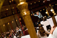 NEW YORK - DEC 19: Daniel Barenboim conducts the West-Eastern Divan Orchestra during a rehearsal at Carnegie Hall on December 19, 2006, in New York City. (Photo by Landon Nordeman)
