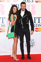 Michelle Keegan and Mark Wright arriving at The Brit Awards 2015 (Brits) held at the O2 - Arrivals, London. 25/02/2015 Picture by: James Smith / Featureflash
