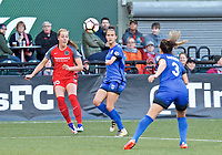 Portland, OR - Saturday May 06, 2017: Celeste Boureille, Carson Pickett during a regular season National Women's Soccer League (NWSL) match between the Portland Thorns FC and the Chicago Red Stars at Providence Park.