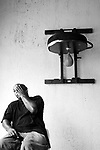 ARTURO GATTI (8/12) -- Portrait of trainer Buddy McGirt at his Elite Boxing gym after his boxer, Arturo Gatti, left the building following a not-so-enthusiastic workout in preparation for Gatti's June 25th fight against Floyd Mayweather in Atlantic City.  (4/12/2005)  VERO BEACH, FL