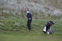 Ronan Cowhey (Elm Park) on the 17th during Round 2 of the Ulster Boys Championship at Portrush Golf Club, Portrush, Co. Antrim on the Valley course on Wednesday 31st Oct 2018.<br /> Picture:  Thos Caffrey / www.golffile.ie<br /> <br /> All photo usage must carry mandatory copyright credit (&copy; Golffile | Thos Caffrey)