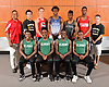 The Newsday All-Long Island boys track and field team gathers for a group picture at company headquarters on Wednesday, June 14, 2017. Appearing are, FRONT ROW, FROM LEFT: Lucas Mathieu of Elmont, Malik Johnson of Elmont, Demoni Gilkes of Elmont and Damahya Couer of Elmont. BACK ROW, FROM LEFT: Coach Reynolds Hawkins of Amityville, Jonathan Lauer of Sachem North, Daniel Claxton of Smithtown East, Kyree Johnson of Huntington, Nigel Green of Floyd, Emmanuel Oguntoye of Amityville and Chris Tibbetts of Sachem North.