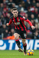 Lewis Cook of AFC Bournemouth during the Premier League match between Bournemouth and Arsenal at the Goldsands Stadium, Bournemouth, England on 14 January 2018. Photo by Andy Rowland.