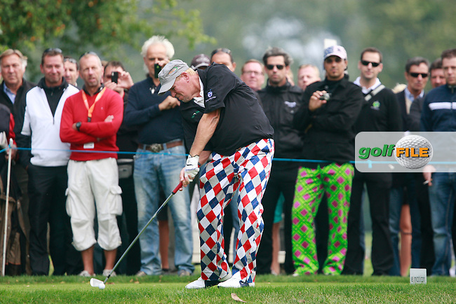 John Daly (USA) tees off on the 2nd tee during Thursday's Round 1 of the Austrian Open presented by Lyoness at the Diamond Country Club, Atzenbrugg, Austria, 22nd September 2011 (Photo Eoin Clarke/www.golffile.ie)