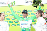 Michael Albasini (SUI) Orica-GreenEdge wins Stage 5 and the points jersey of the 2016 Tour de Romandie, running 172km from Ollon to Geneve, Switzerland. 1st May 2016.<br /> Picture: Heinz Zwicky | Newsfile<br /> <br /> <br /> All photos usage must carry mandatory copyright credit (© Newsfile | Heinz Zwicky)