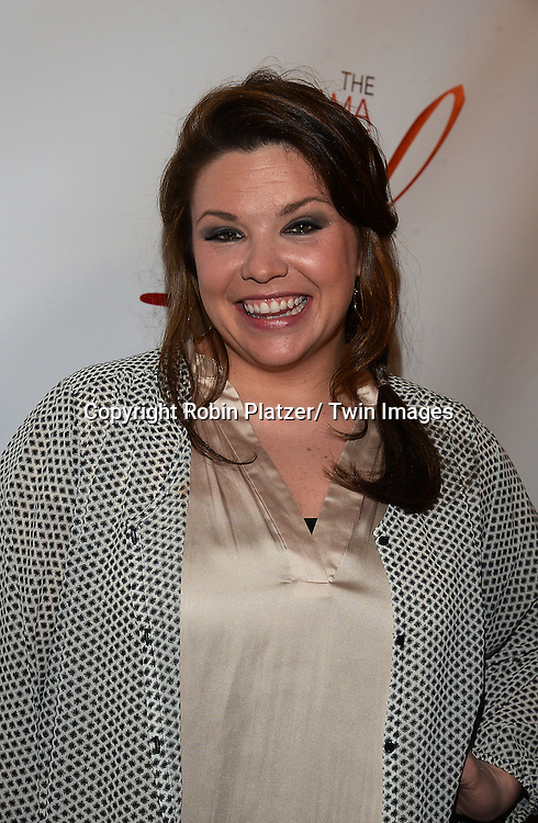 Mary Bridget Davies attends the 80th Annual Drama League Awards Ceremony and Luncheon on May 16, 2014 at the Marriot Marquis Hotel in New York City, New York, USA.