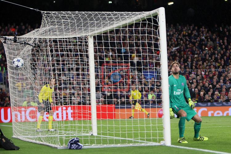 UEFA Champions League 2016/2017.<br /> Round of 16 2nd leg<br /> FC Barcelona vs Paris Saint-Germain: 6-1.<br /> 4-1: Neymar Jr.