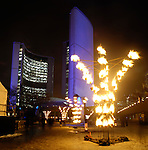 Night of Fire by Cie Carabosse Wintercity Festival in Toronto Canada Nathan Phillips Square Toronto City Hall Jan 25 2008