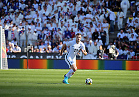 New Zealand's Tommy Smith in action during the 2018 FIFA World Cup Russia first-leg playoff football match between the NZ All Whites and Peru at Westpac Stadium in Wellington, New Zealand on Saturday, 11 November 2017. Photo: Dave Lintott / lintottphoto.co.nz