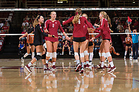 STANFORD, CA - September 11, 2018: Stanford beats Texas 3-0 at Maples Pavilion.