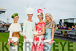 l-r Annmarie Blennerhassett, Geraldine Walsh, Brid Hayes and Brenda O'Brien finalists in the  McElligott's / Honda Ladies Day at the Listowel Harvest Racing Festival on Friday