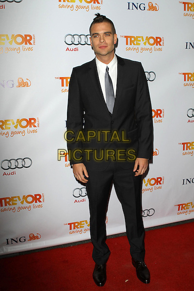 Mark Salling.Trevor Live at The Hollywood Palladium in Hollywood, California, USA..December 4th, 2011.full length grey gray suit black shirt tie white.CAP/ADM/KB.©Kevan Brooks/AdMedia/Capital Pictures.
