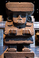 Aztec sculpture of Chalchiutllicue in the Sala Mexica, National Museum of Anthropology, Chapultepec Park, Mexico City