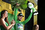 World Champion Peter Sagan (SVK) Bora-Hansgrohe finishes 2nd and retains the Green Jersey at the end of Stage 4 of the 2018 Tour de France running 195km from La Baule to Sarzeau, France. 10th July 2018. <br /> Picture: ASO/Pauline Ballet | Cyclefile<br /> All photos usage must carry mandatory copyright credit (&copy; Cyclefile | ASO/Pauline Ballet)