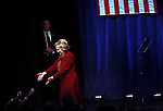 MANHATTAN, NY - FEBRUARY 16:  Democratic Presidential candidate Hillary Clinton greets the audience after speaking at the Schomburg Center for Research in Black Culture in Manhattan, NY, on February 16, 2016. (Photo by Yana Paskova/For The Washington Post)