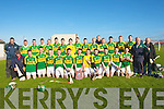 The Kerry Minor Hurling team who defeated Tipperary minor hurling team in the Todd Nolan Sheild Final by 2-08 to 08 at Kilmoyley on Saturday. with the management: Joe Walsh (Coach Hurling Officer), Joe Walsh (selector), Gerard McCarthy (Manager) and Andy Sullivan (selector)..