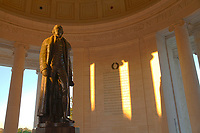 Early morning light on the interior of the Jefferson Memorial.  I had this iconic location all to myself.