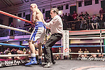 Ryan Crawford vs Karl Wheeler 10x3 Cruiserweight The Fight Cup Final During Goodwin Boxing: Christmas Carnage. Photo by: Simon Downing.<br /> <br /> Saturday 3rd December 2016 - York Hall, Bethnal Green, London, United Kingdom.