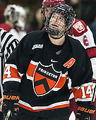 Andrew Ammon (Princeton - 14) - The Harvard University Crimson defeated the Princeton University Tigers 3-2 on Friday, January 31, 2014, at the Bright-Landry Hockey Center in Cambridge, Massachusetts.