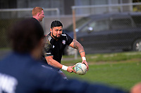 Greg Foe passes during the Mitre 10 Cup preseason rugby match between the Wellington Lions and Manawatu Turbos at Otaki Domain in Otaki, New Zealand on Sunday, 6 August 2017. Photo: Dave Lintott / lintottphoto.co.nz