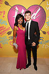 Sharon Catherine Brown and son attends the Opening Night Performance After Party for  'Head Over Heels' at Gustavino's  on July 26, 2018 in New York City.