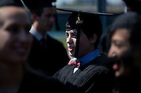 A procession of graduating students walks to Killian Court for the MIT Commencement on June 8, 2012, in Cambridge, Massachusetts, USA...Photo by M. Scott Brauer