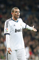 Real Madrid CF vs Athletic Club de Bilbao (5-1) at Santiago Bernabeu stadium. The picture shows Pepe. November 17, 2012. (ALTERPHOTOS/Caro Marin) NortePhoto