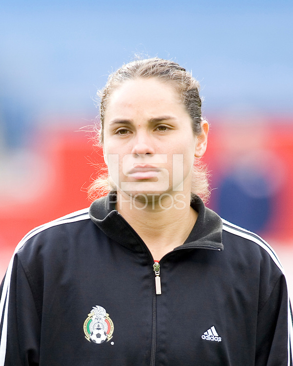 Mexico's Guadalupe Worbis during the team presentation. USA women's national team defeated Mexico 5-0 at Gillette Stadium in Foxborough MA on April 14, 2007