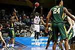 SIOUX FALLS, SD - MARCH 20: Gach Gach #10 from West Texas A&M spots up for a three pointer against Le Moyne during their quarterfinal game at the 2018 Elite Eight Men's NCAA DII Basketball Championship at the Sanford Pentagon in Sioux Falls, SD. (Photo by Dave Eggen/Inertia)
