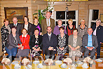 PRESENTATION: Member's of the Our Lady and St Brendan's church choir presenting a painting choir organist John O'Roarke for his 23 years service at Stokers Lodge restaurant and bar, Tralee on Friday seated l-r: Martina Ryan-Egan, Kay Walsh, John O'Roarke, Brigid O'Hey, Colette Quin and Fr Patsy Lynach. Back l-r: Anne Lacey, PJ Ryan, Liz O'Halloran, Eilish Hayes, Frank O'Connor, Sr Patrice Clifford, Terry Griffin, Eileen Tansley and Mary Ryan.