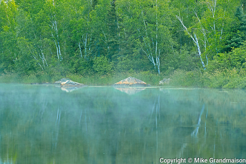 Fog on Riviere Fraser <br />Latulipe<br />Quebec<br />Canada
