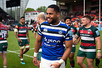 Joe Cokanasiga of Bath Rugby looks on after the match. Gallagher Premiership match, between Leicester Tigers and Bath Rugby on May 18, 2019 at Welford Road in Leicester, England. Photo by: Patrick Khachfe / Onside Images