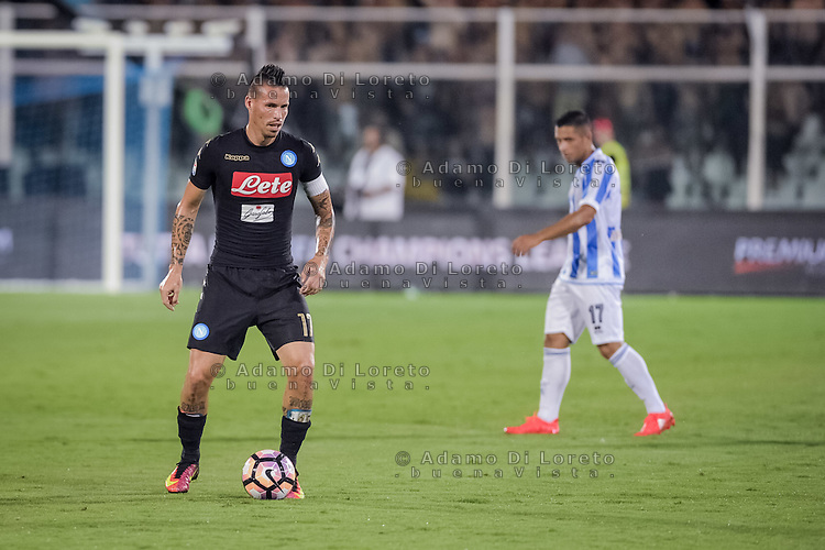 Marek Hamsik (Napoli) during the Italian Serie A football match Pescara vs SSC Napoli on August 21, 2016, in Pescara, Italy. Photo by Adamo Di Loreto