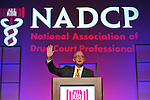 General (ret.) Barry McCaffrey delivers remarks on Veterans Treatment Courts on Wednesday, July 20, 2011 at the Gaylord National Hotel Resort and Convention Center in National Harbor, MD. Today's ceremony concluded the 17th Annual NADCP Drug Court Training Conference. (Larry French/AP Images for NADCP)