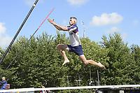 FIERLJEPPEN: WINSUM: 11-08-2018, FK Fierljeppen, Ysbrand Galama, ©foto Martin de Jong