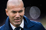 Coach Zinedine Zidane of Real Madrid prior to the La Liga match between Real Madrid and Real Sporting de Gijon at the Santiago Bernabeu Stadium on 26 November 2016 in Madrid, Spain. Photo by Diego Gonzalez Souto / Power Sport Images