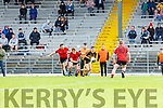 Tony Brosnan Dr Crokes breaks away from Dara Crowley and James McCarthy Kenmare Shamrocks during their SFC QF in Fitzgerald Stadium on Sunday