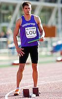 17 MAY 2009 - LOUGHBOROUGH,GBR - Andy Blow - Mens 4 x 400m Relay - Loughborough International Athletics .(PHOTO (C) NIGEL FARROW)