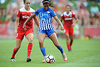 Boyds, MD - Saturday August 12, 2017: Havana Solaun, Margaret Purce during a regular season National Women's Soccer League (NWSL) match between the Washington Spirit and The Boston Breakers at Maureen Hendricks Field, Maryland SoccerPlex.