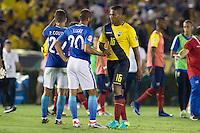 Action photo during the match Brazil vs Ecuador, Corresponding Group -B- America Cup Centenary 2016, at Rose Bowl Stadium<br /> <br /> Foto de accion durante el partido Brasil vs Ecuador, Correspondiante al Grupo -B-  de la Copa America Centenario USA 2016 en el Estadio Rose Bowl, en la foto:  (i-d), Lucas Moura de Brasil y Antonio Valencia de Ecuador<br /> <br /> <br /> 04/06/2016/MEXSPORT/Victor Posadas.