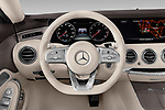 Car pictures of steering wheel view of a 2019 Mercedes Benz S-Class S560 2 Door Coupe