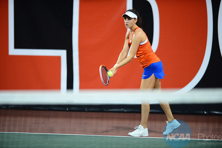 ATHENS, GA - MAY 23: Ingrid Neel of the University of Florida serves against Stanford University during the Division I Women's Tennis Championship held at the Dan Magill Tennis Complex on the University of Georgia campus on May 23, 2017 in Athens, Georgia. (Photo by Steve Nowland/NCAA Photos via Getty Images)