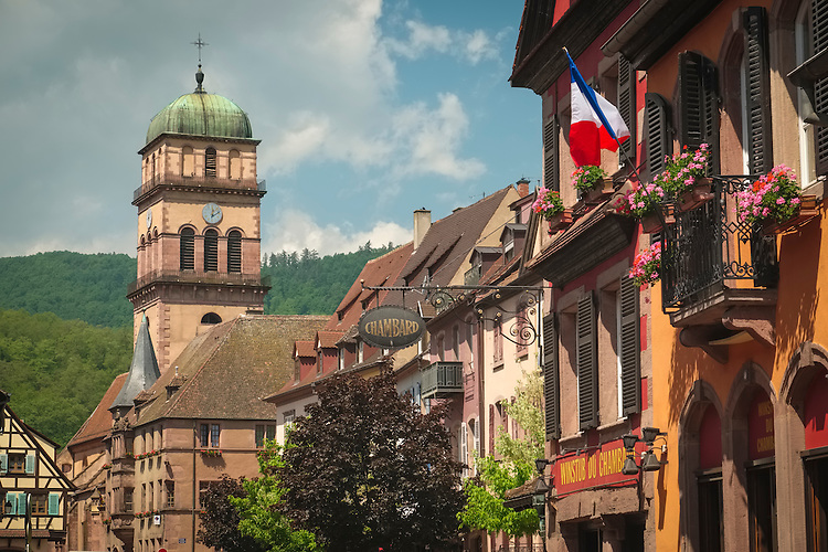 The medieval town of Kayserburg is found along the Route du Vin in Alsace area of France.